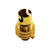 Brass 1.3cm Lamp Holder SBC (B15) Shade Ring Lampholder for light fittings