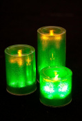 LARGE LED CANDLES CUPS WITH FLICKERING CANDLE LIGHT 3 SIZES DECOR LIGHTING EVENTS