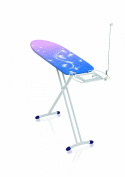 Leifheit 72587 AirSteam Compact Medium Lightweight Deluxe Ironing Board for Steam Generator Irons, Blue