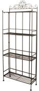 Black Scroll Design Metal 4 Shelf Unit