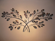 Metal Wall Art Double Laurel Branches