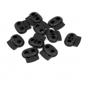 Flyshop Luggage Spring Stopper Double Holes Cordlocks 10 Pcs 23207 mm