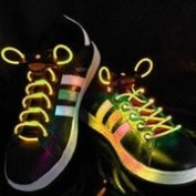 LED SHOELACES IN DIFFERENT colours : GREEN, RED, YELLOW, ORANGE, BLUE, PINK, YELLOW/ GREEN, BLUE/PINK, GREEN/PINK, MULTICOLOR