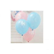 2x Tiny Feet Baby Shower Party Balloons x 8