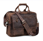Kattee Leather Men's Dark Brown 40cm Laptop Bag Briefcase Handbag Messenger Shoulder Bag