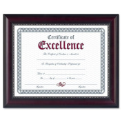 Prestige Document Frame, Matted w/Certificate, Rosewood/Black, 28cm x 36cm
