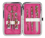 Brownlow Kitchen Gifts Manicure Set, Chocolate Floral