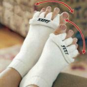 White Sleeping Massage Five Toe Socks Fingers Separator DDStore