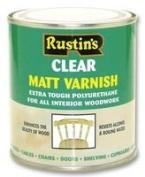 Rustins POMC500 500ml Poly Matt Varnish - Clear