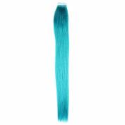 Full Hair 60cm 25Gram 10 Pcs Per Package Teal Tape Extensions Human Hair Tape on Hair Extensions