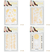 Perfect Summer 4pcs Temporary Tattoos Mix Style Fit For Club Party Decoration #14