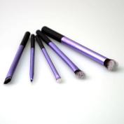 Glantop 5pcs Real RT eyes/enhanced Starter Set Aluminium Pole Blush Brush Makeup Cosmetics Tools