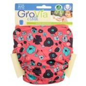 GroVia All in One Cloth Nappy - Snap - Poppy - One Size