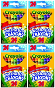 Crayola Washable Crayons, 24 Count (Pack of 4) Total 96 Crayons