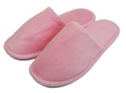 Terry Velour Closed Toe Slippers Cloth Spa Hotel Unisex Slippers Pink