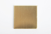 RMP Stamping Blanks, 3.2cm Square with 1 Hole, .80cm / 20 Gauge Brass - 20 Pack