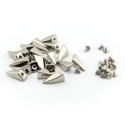 50pcs 10x20mm Dragon Claw Spike and Studs Silver Metal Screw Back DIY Punk Spikes For Leathercraft