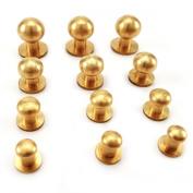 20PCS Sam brown browne screw studs Button Studs - LEATHERCRAFT - solid Brass 8 mm