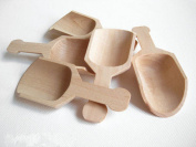 CHENGYIDA 10-PACK Natural Unfinished Wood Scoops, 7.6cm long, for crafts~DIY gifts~Wedding Reception~Shower~Birthday Favours~Bath Salt~Candy Bar