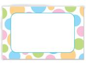 50 pack Pastel Dots- No SentimentEnclosure Cards