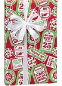 NO PEEKING Christmas Holiday Gift Wrap Paper - 4.9m Continuous Roll