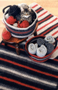 Crocheted Felt Rug & Basket - Fibre Trends Crochet Pattern 216