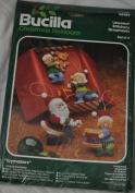 Bucilla Toymakers Ornaments Santa and Elves Felt Christmas Kit 48989 - Vintage Set of 4