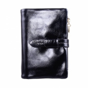 Mantos Eternity Luxury Fashion Waxy Genuine Leather Designer Wallet Zippered Clutch with Card Case Holder for Women