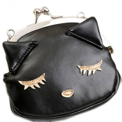 E.a@market Cute Black Cat Pu Coin Purse