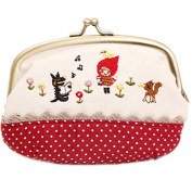 E.a@market Cartoon Canvas Coin Purse Change Purse Mini Shell Bag