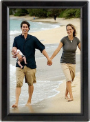 Opti Snap Frame 13cm X 18cm Poster Size, 1.4cm Aluminium Profile, Silver and Black, Mitred Corner, Without Back Support