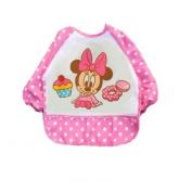 Over Clothing Baby Bib Mini Mouse Longsleeve Style Water Resistant Baby Bib, Baby:LS-BIB01.2