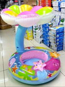 Intex My Baby Float Swimming Safe Inflatable Ring Infant Chair with Umbrella