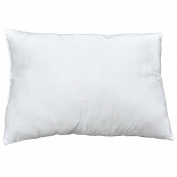 100% Cotton White Travel Pillow / Toddler Pillow - Soft Hypoallergenic - Poly Pillow Insert Form Angel Cushion (ages +2) Made In the USA