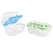 . 2 Pack Dishwasher Basket - Green/Blue