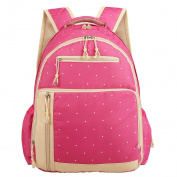 LCY Perfect Pockets Backpack Nappy Bag Pink Dots