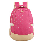 LCY Smart Organiser System Backpack Nappy Bag Pink Dots