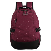 LCY Smart Organiser System Backpack Nappy Bag Wine Dots