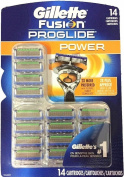 Fusion Proglide Power Men's Razor Blade Refills, 14 Cartridges