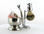 Shaving Set - Country Uncle Mach 3 W/ Silvertip Badger Brush