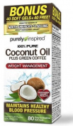 Purely Inspired 100% Pure Coconut Oil with Green Coffee, 80 Soft Gels