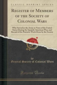 Register of Members of the Society of Colonial Wars