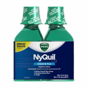 Vicks 44 Nyquil Cold and Flu Relief Liquid, Original Flavour, 710ml,