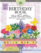 Birthday Book with Birth Flowers and Gems
