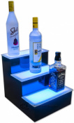 3 Step LED Illuminated Home Bar Liquor Display