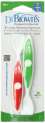 Dr. Browns Designed To Nourish Long Spatula Spoon, Colours May Vary - 8 Count