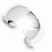 Sterling Silver 28.5mm Contemporary Cuff Bangle Bracelet