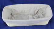 BetterJonny - 30cm Oblong Banneton Brotform Bread Dough Proofing Rattan Basket & Liner Combo USA Delivery