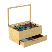 "Mind Reader ""Royce""Wooden Tea Bag and Condiment Organiser, Brown"