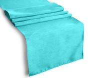 ArtOFabric Dupioni (Faux Silk) Table Runner 30cm X 180cm - Aqua